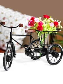 Wrought Iron Rickshaw Flower Stand