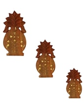 Wooden Pineapple Key Holder Set - Onlineshoppee
