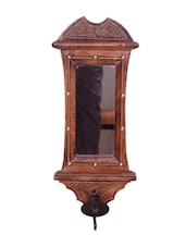 Wooden Big Candle Stand For Wall Mirror ✿ Antique Style Handicrafts - Onlineshoppee