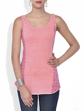 Pink Block Printed Cotton Top - By