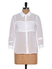 White Sheer Shirt - Colors Couture