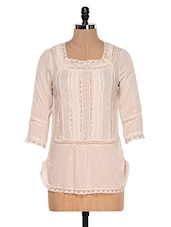 Baby Pink Lacy Cotton Top - Colors Couture