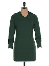 Green Hooded Top - Colors Couture