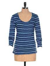 Dark Blue Striped Top - Colors Couture