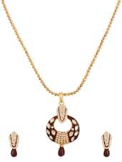Antique Gold Plated Alloy Based Designer Pendants Set - Rich Lady