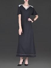 Black Embellished Georgette Maxi Dress - By