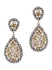 Polki Earrings In 925 Sterling Silver - By