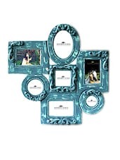 Blue MDF Scroll Work Collage Photo Frames - By