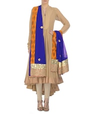 Royal Blue Embellished Georgette Dupatta - By