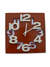 Brown And Grey Cutwork Plastic Wall Clock - By