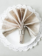 Beige Square Table Napkins (Set Of 6) - By