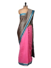 Graceful Silk Saree In Blue And Pink - Purple Oyster