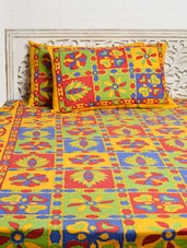 Colourful Floral Double Bed Sheet Set - Silkworm