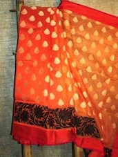 Orange And Gold Banarasi Saree - BANARASI STYLE