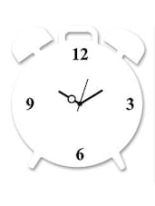 White And Black Wooden Wall Clock - By