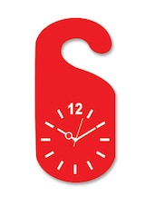 White And Red Wooden Wall Clock - By