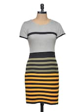 Multicolor Striped Knit Dress - Thegudlook