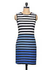 Multicolor  Striped Sleeveless  Knit Dress - Thegudlook
