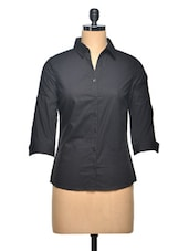 Black Slim Formal Shirt - Thegudlook