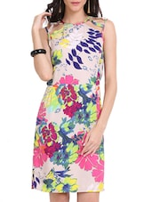 Floral Print Cut Out Dress - Ridress