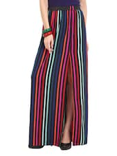 Striped Maxi Skirt - Ridress