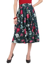 Floral Flare Midi Tea Skirt - Ridress