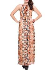 Geometric Print Maxi Dress - Ridress