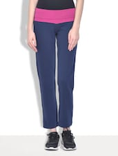Navy blue fleece track pants -  online shopping for Pajamas