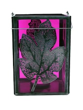 Leaf In Pink Candle Holder - Peacock Life