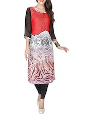 Red Georgette Printed Kurti - By