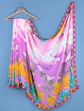 Multicolor Floral Printed Saree - Shrimatiji Sarees