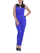 Blue And Black Jumpsuit - Pera Doce