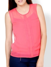 Calypso Coral Sheer Top - Pera Doce