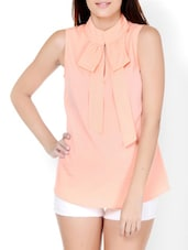 Chic Peach Closed Neck Top - Pera Doce