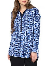 Islamic Mosaic High-Low Back Button Top - Pera Doce