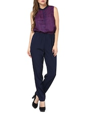 Purple And Blue Double Bow Jumpsuit - Pera Doce