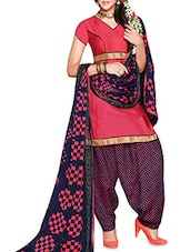 Cotton Printed Semi-Stitched Suit Set - By