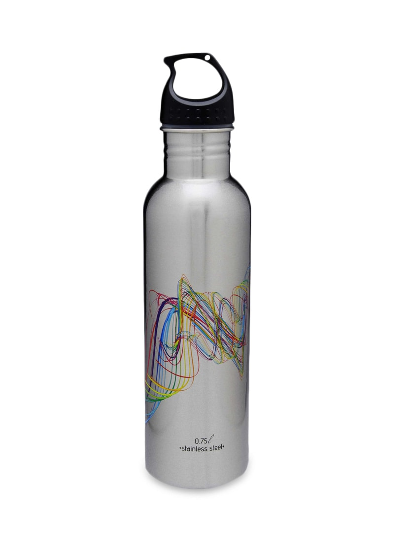 Set Of 6 Silver Stainless Steel 750 Ml Bottle - By