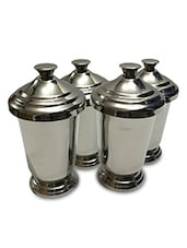 Set Of 4 Stainless Steel 350 Ml Glass - By