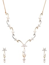 Gold Plated Cubic Zirconia Necklace Set - Blinglane