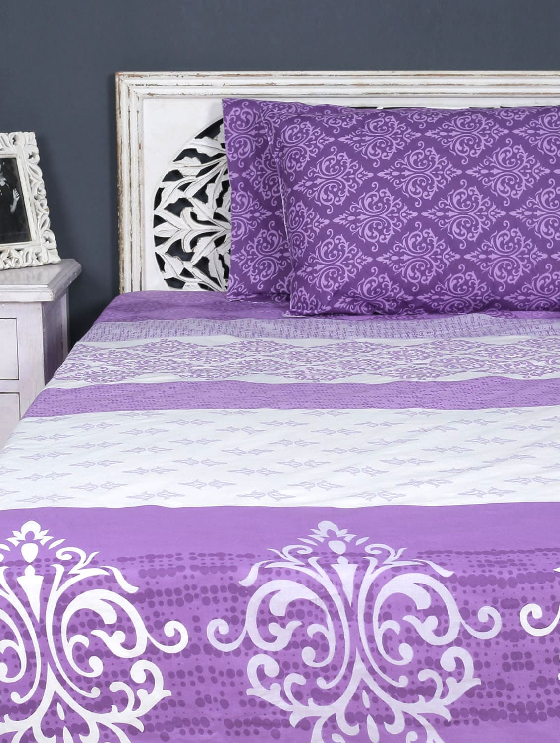 Double Bedsheet With Pillow Cover - Aarya Home