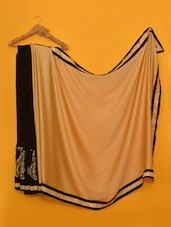 Mandira Bedi Golden & Black Half Half Saree - Vamika