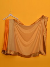 Lovely Orange And White Silk Saree - Vamika