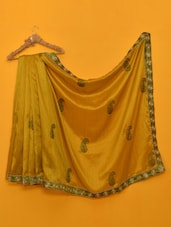 Madhuri Dixit Yellow- Green Designer Saree - Vamika