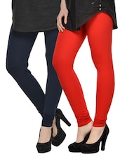Set Of 2 Cotton Lycra Leggings - By - 962902