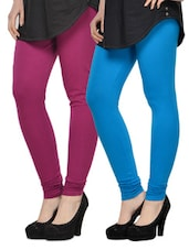 Set Of 2 Cotton Lycra Leggings - By