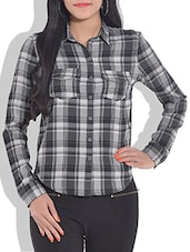 Grey Woolen Checkered Shirt - By