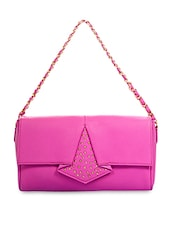 Purple Genuine Leather Handbag - By