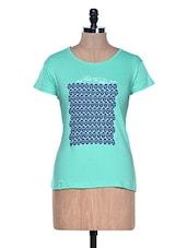 Green Half Sleeve Crew Neck T-shirt - Aloha