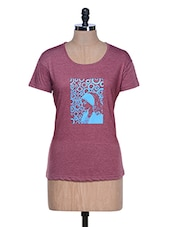 Pink Solid Color V-neck T-shirt - Aloha